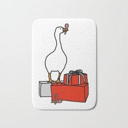 White Goose Steals Christmas Bath Mat