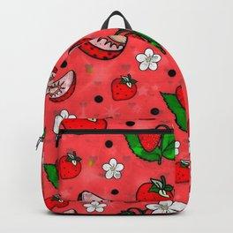 Strawberry Popart by Nico Bielow Backpack
