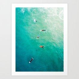 Five Surfers v2 Art Print