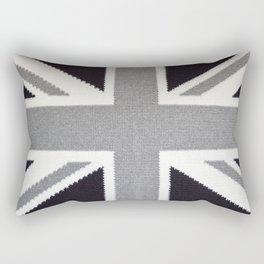 Crochet Monochrome Union Jack Rectangular Pillow