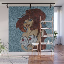 It is always better with whip cream. Wall Mural