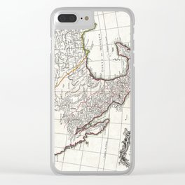 Map of Mexico, Texas, Louisiana and Florida - Bonne - 1771 Clear iPhone Case