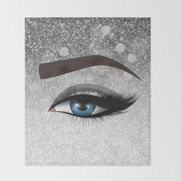 Glam diamond lashes eye #1 Throw Blanket