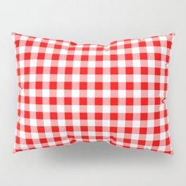 Australian Flag Red and White Jackaroo Gingham Check Pillow Sham