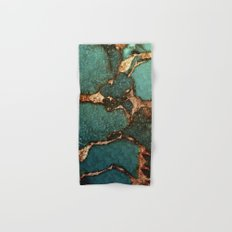 EMERALD AND GOLD Hand & Bath Towel