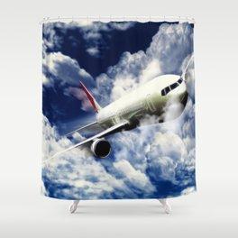 Über den Wolken Shower Curtain