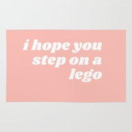 step on a leggo Rug