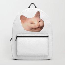 smiling grinning cat meme Backpack