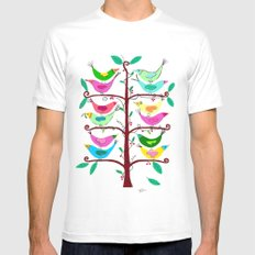 Tree of Life White Mens Fitted Tee MEDIUM