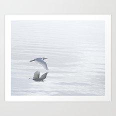 Winter Crane Art Print