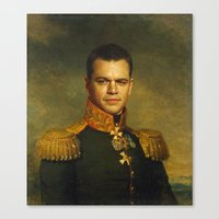 replaceface Canvas Prints featuring Matt Damon - replaceface by replaceface