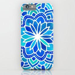 Mandala Iridescent Blue Green iPhone Case