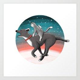 Together we are faster | Illustration Art Print