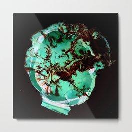 Liquid glass Metal Print