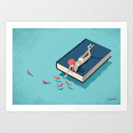 Relaxing Art Print