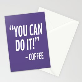 You Can Do It - Coffee (Ultra Violet) Stationery Cards