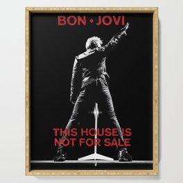 bon jovi this house not for sale tour 2019 nitrogen Serving Tray