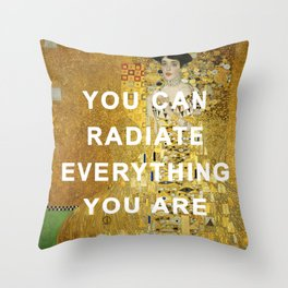 Radiant Adele Bloch-Bauer I Throw Pillow