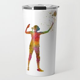 Volleyball player in watercolor Travel Mug