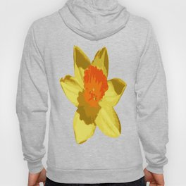 Spring Daffodil Vector Isolated Hoody