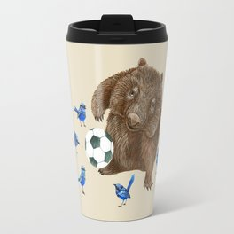 Blue wrens Wombat Football Travel Mug