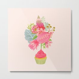 Cupcake Bouquet Metal Print