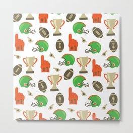 American Football pattern Metal Print
