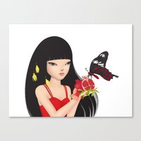 ruby Canvas Prints featuring Ruby by Anne  Martwijit