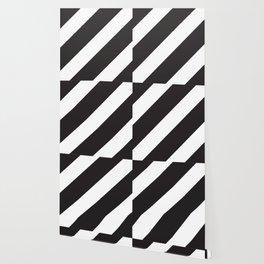 Black diagonal lines Big Wallpaper