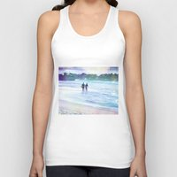surfer Tank Tops featuring Surfer Boys by Teresa Chipperfield Studios