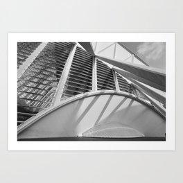 City of Arts and Sciences IV by CALATRAVA architect Art Print