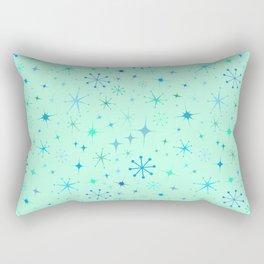 Atomic Starry Night in Mod Mint Rectangular Pillow