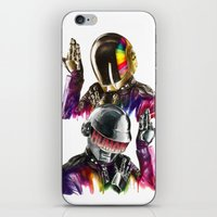 daft punk iPhone & iPod Skins featuring Daft punk  by beart24