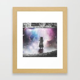 COSMIC FISHING Framed Art Print