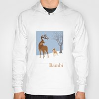 bambi Hoodies featuring Bambi by TheWonderlander