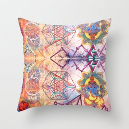 Hindu Geo Psych Throw Pillow