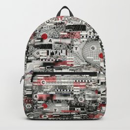 The Flaw Advantage (P/D3 Glitch Collage Studies) Backpack