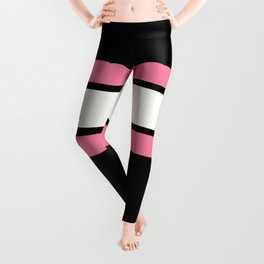 TEAM COLORS 2.....pink,black and white Leggings
