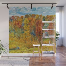 Classical Masterpiece 'Autumn in New England' by Frederick Childe Hassam Wall Mural