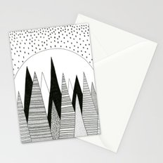 Moonlight Forest (pen on paper) Stationery Cards