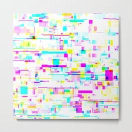 Glitch Pattern Metal Print