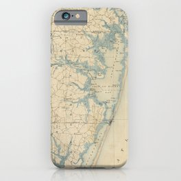 Vintage Map of Ocean City Maryland (1900) iPhone Case