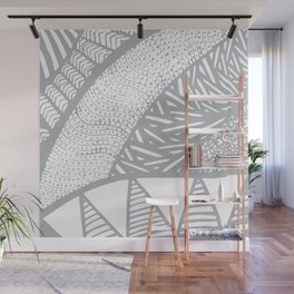 Free Hand Grey scale Doodle Design Wall Mural