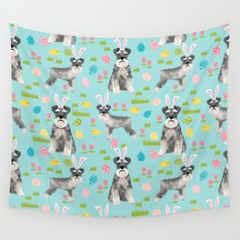 Schnauzer easter costume spring easter bunny pure breed dog pattern gifts Wall Tapestry