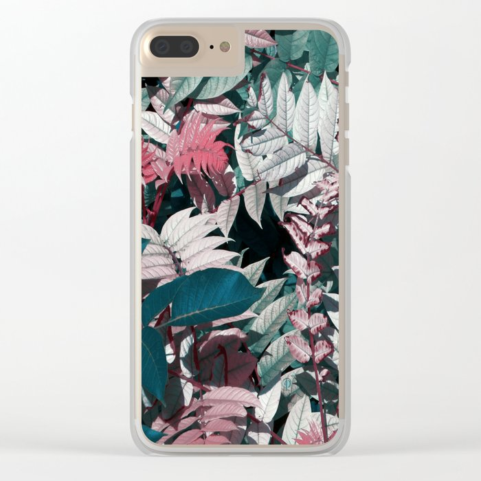 Beautiful garden leaves Clear iPhone Case