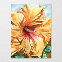 Tropical Yellow Hibiscus Canvas Print