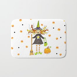 Raining Candy Corn Bath Mat