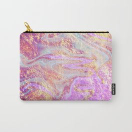Vibrant Glitter Marble Carry-All Pouch