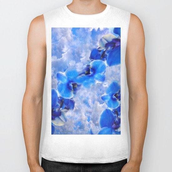 Orchids Blue Biker Tank