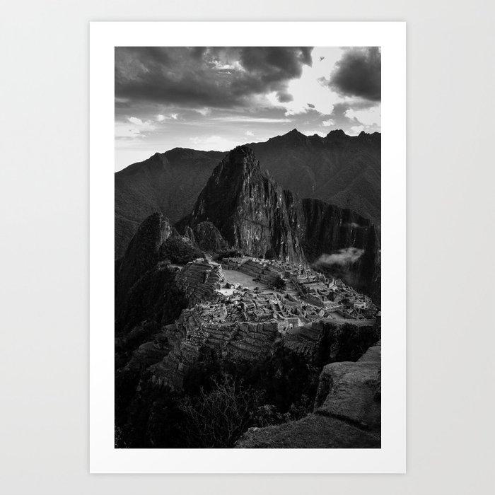 Machu Picchu (B&W) Art Print